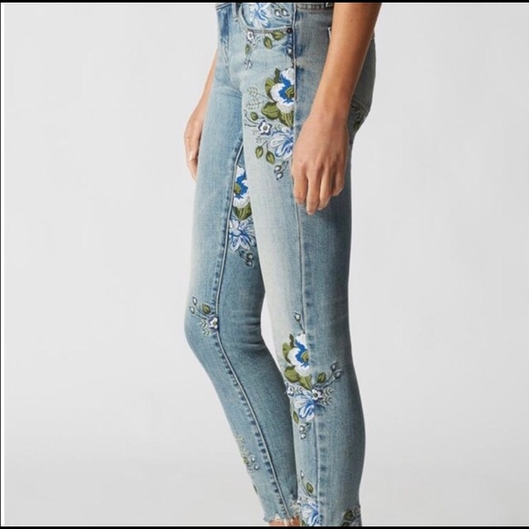 Blank NYC Denim - Blank NYC Embroidered Floral Jeans